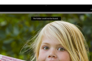Folder could not be found in lightroom